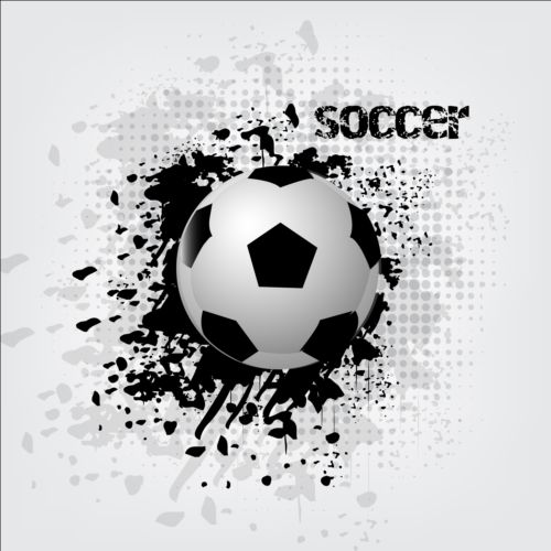 Abstract soccer background design vector 05