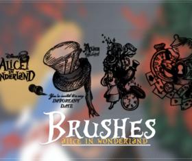 Alice with wonderland photoshop brushes
