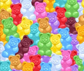 Bear sweet seamless pattern vector