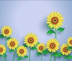 Beautiful sunflower vector material