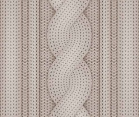 Beige knitted pattern vector background