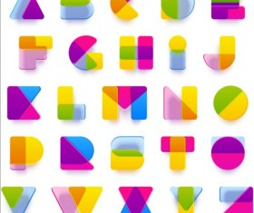 Blurred colored alphabets vectors