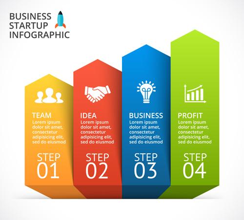 Business Infographic creative design 4247