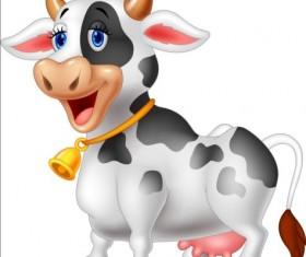 Cartoon cow cute vector