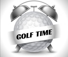 Clock with golf vector