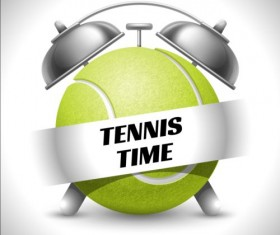 Clock with tennis vector