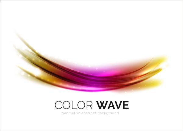 Color light wave effect backgrounds vector 04