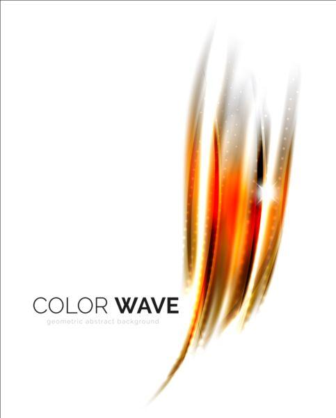 Color light wave effect backgrounds vector 05