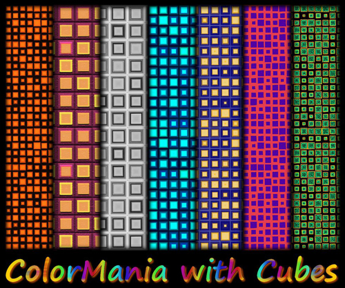 ColorMania with Cubes Photoshop Pattern