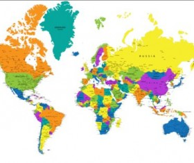Colored world map creative material 02