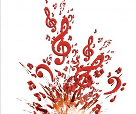 Colorful music explosion background vector 01