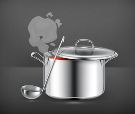 Cooking pot vector illustration