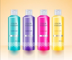 Cosmetic packaging design template vector set 05