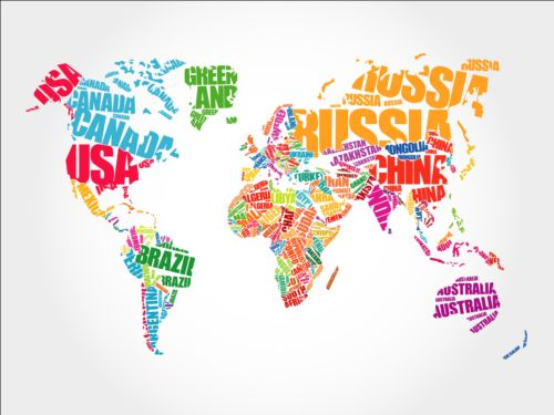Country text with world map vector free download country text with world map vector gumiabroncs Gallery