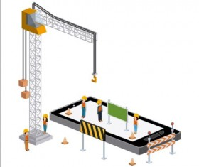 Creative Isometric technology tamplate vector 01