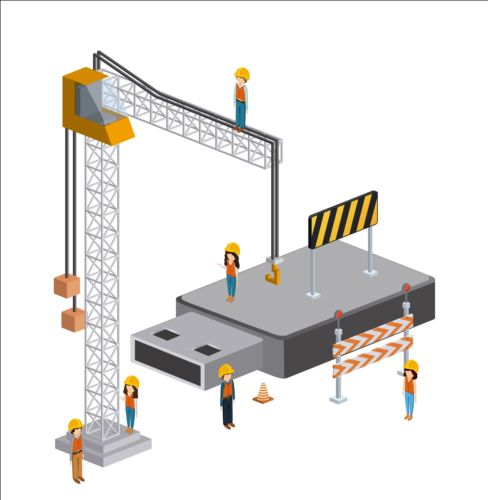 Creative Isometric technology tamplate vector 04
