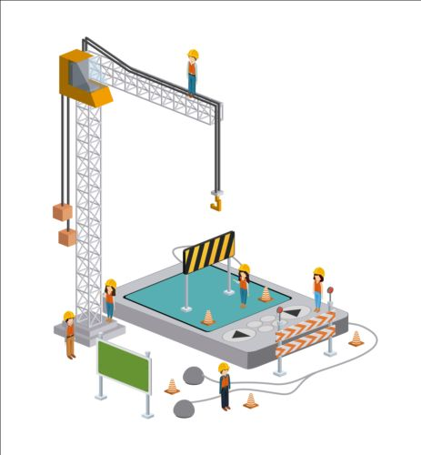 Creative Isometric technology tamplate vector 05