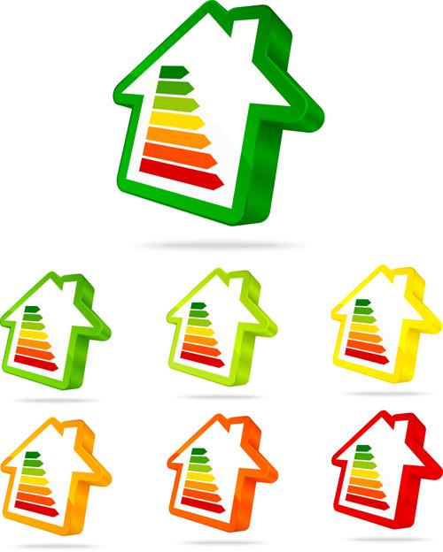 Creative arrow logos set vector 02