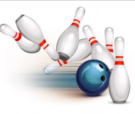 Creative bowling vector background 01