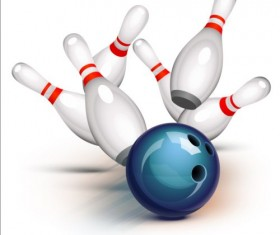 Creative bowling vector background 02