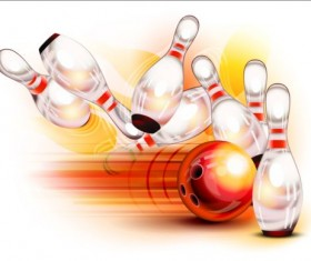 Creative bowling vector background 05