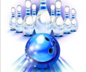 Creative bowling vector background 06