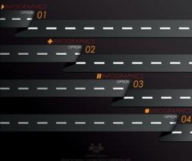 Creative road marking Infographics vector graphics 01
