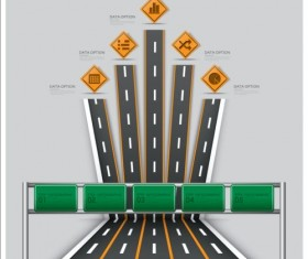 Creative road marking Infographics vector graphics 05