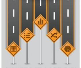 Creative road marking Infographics vector graphics 06