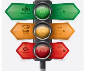 Creative road marking Infographics vector graphics 08