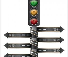Creative road marking Infographics vector graphics 09