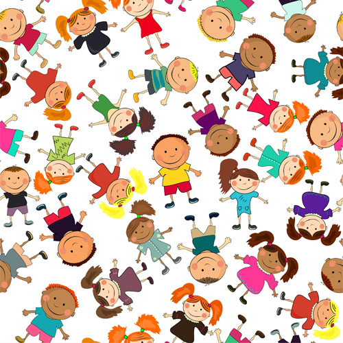 Cute kids patter seamless vector 05