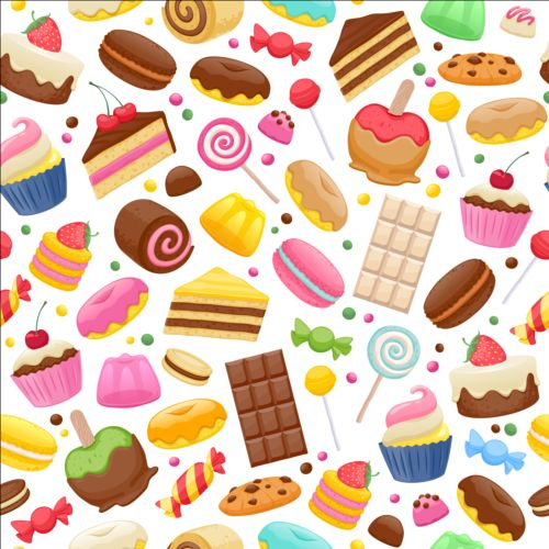 Cute sweet candy seamless pattern vector 02 vector food vector cute sweet candy seamless pattern vector 02 sciox Gallery