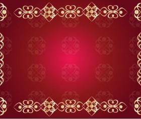 Decor floral card template vector 02