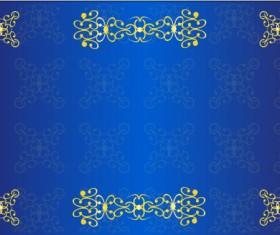 Decor floral card template vector 04