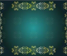 Decor floral card template vector 06