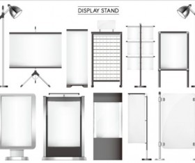 Different display stand vector material 02