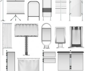 Different display stand vector material 03