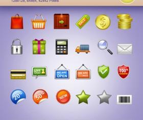 Ecommerce Icons PSD set