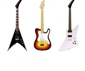 Electric guitar vector set 01