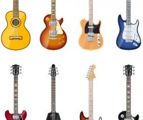 Electric guitar vector set 02