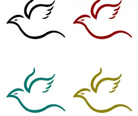 Flying Bird PSD Logo