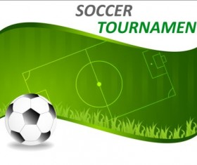 Football field with soccer background vector 01