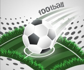Football field with soccer background vector 02