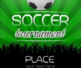 Football tournament poster design vector