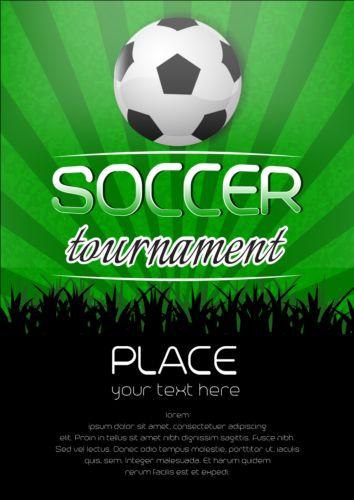 football tournament poster design vector free download