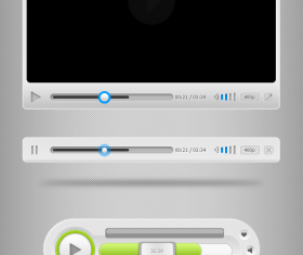 Free Media Player UI PSD Template