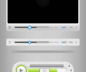 Free Media Player UI PSD Template