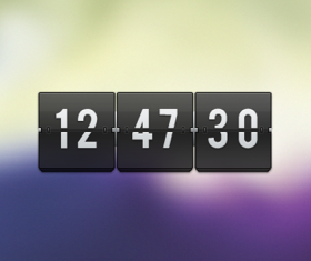 Free transparent flip clock PSD
