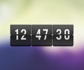 Free transparent flip clock PSD